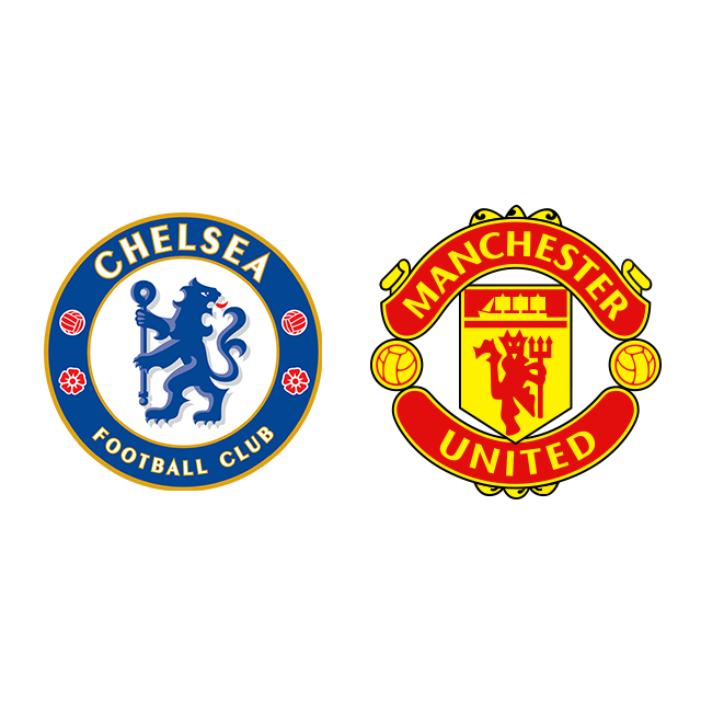 Logótipo do Chelsea F. C. e logótipo do Manchester United