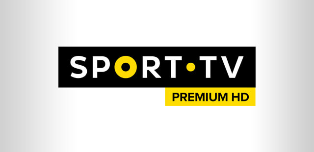 Fundo cinzento com o logo do canal Sport Tv Premium HD
