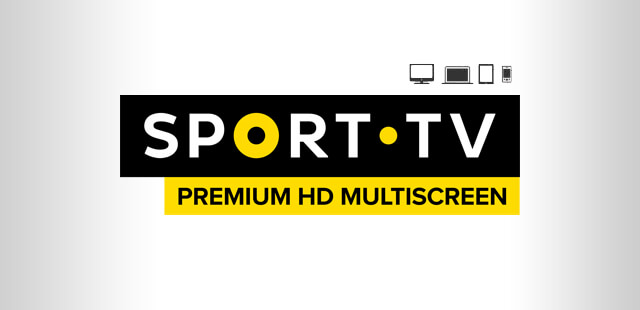 Fundo cinzento com o logo do canal Sport Tv Premium HD Multiscreen